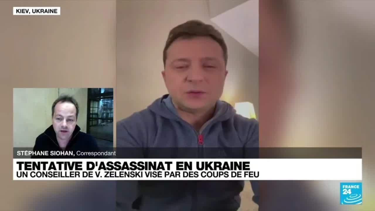 Le premier conseiller du président ukrainien visé par une tentative d'assassinat • FRANCE 24