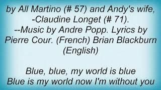 Andy Williams - Love Is Blue (L'Amour Est Bleu) Lyrics