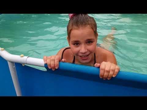 БАССЕЙН 3 ЧАСТЬ купаемся,  дача, акробатика в бассейне