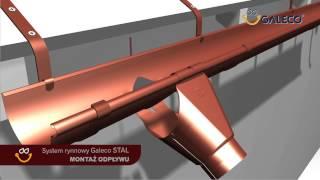 Montaż rynien stalowych - film instruktażowy Galeco
