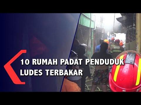 10 Rumah Padat Penduduk Ludes Terbakar