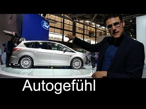 2015 all-new Ford S-MAX world premiere MPV with tour of exterior interior & interview