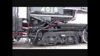 Union Pacific Big boy 4018 in motion in Dallas, Texas June, 2013