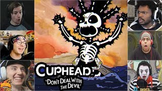 Gamers Reactions to Cala Maria (BOSS) Turning into a Gorgon Mermaid | Cuphead