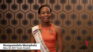 Introduction Video of Nompumelelo Mampholo Miss South Africa 2017 Contestant from Johannesburg, Gauteng