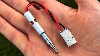 Make SOLDERING IRON Using 12v charger