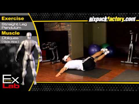 Straight Leg Pendulum: Best Oblique Exercises ( Side Abs ) ( A )