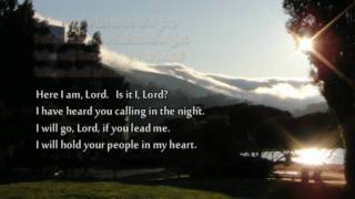 """♥ """"Here I Am, Lord"""" with lyrics (very solemn hymn)"""