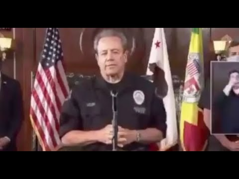 LAPD Chief Of Police Blames Protesters For Death Of George Floyd