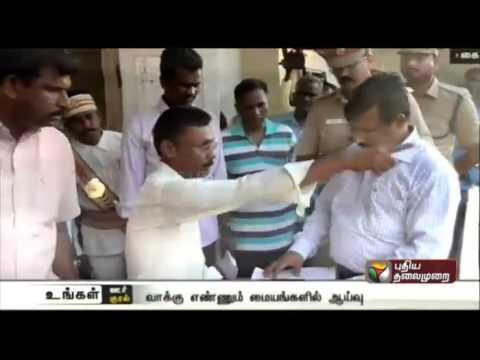 Nagapattinam-district-collector-visits-counting-centres-of-three-constituencies