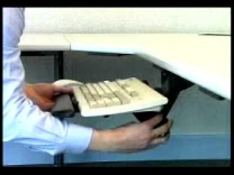 Tastatur-Schwenkarm und Auszug  ASET-007