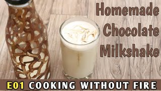 Homemade Chocolate Milkshake With Cocoa Powder | Cook Without Fire🔥| BhuvanVlogs |