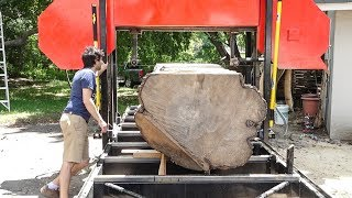 The most steel I've ever cut through - Slabbing a Big Silver Maple