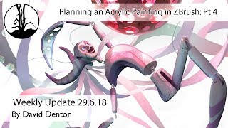 Planning an Acrylic Painting in ZBrush Part 4
