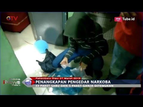 2 Pengedar Narkoba di Pekanbaru Ditangkap saat Transaksi Sabu, Polisi Sita 5 Paket Ganja - BIM 27/03