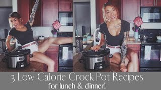 3 Crockpot Recipes for Lunch & Dinner! | Low Calorie Meal Prep Ideas!
