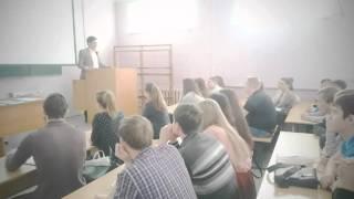 """Лекция на Тему """"ЭкоТранспорт"""" в УГЛТУ"""