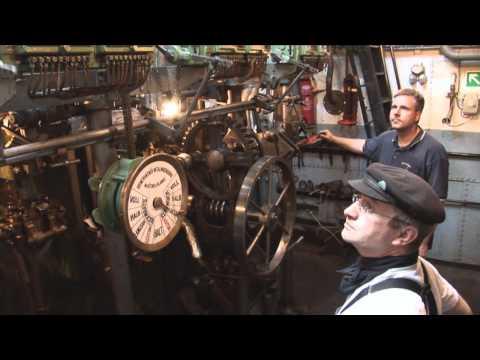 Dampfmaschine in Aktion (Tonnenleger BUSSARD) HD