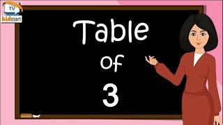multiplication table of 3,  Learn Multiplication Table of three 3 x 1 = 3, Table of 3