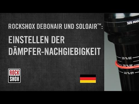 ROCKSHOX Debonair und Solo Air: Einstellen der Dämpfer-Nachgiebigkeit