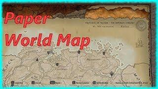 Skyrim Special Edition Mod - Paper World Map