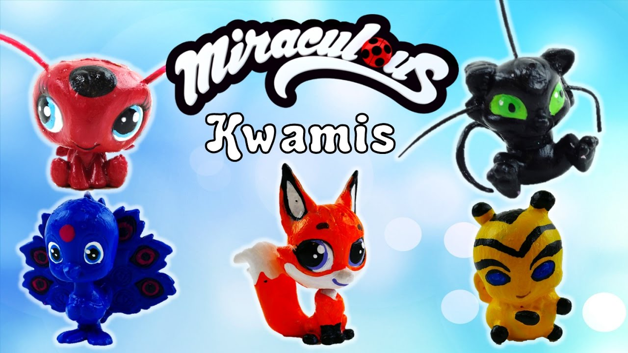 Compilation - Miraculous Ladybug Kwami Tikki Plagg Trixx Duusu Bee Customs | Evies Toy House