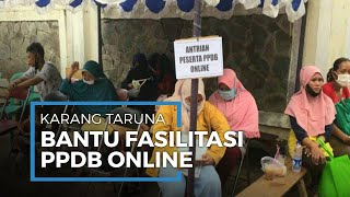 Warga Banyak yang Belum Paham, Karang Taruna Karet Tengsin Beri Bantuan Fasilitasi PPDB Online