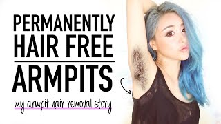 How I removed my armpit hair permanently ♥ No waxing underarm removal ♥ Wengie