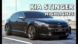 KIA Stinger (2018) Features, Equipment, Performance Highlights