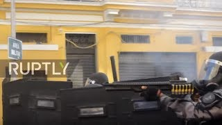 Brazil: Anti-Temer protesters clash with police near Rio