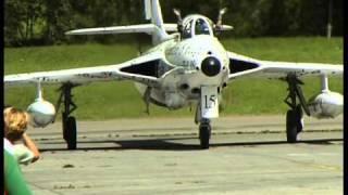 Hawker Hunter in action in Switzerland