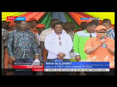 HAPPENING NOW: NASA leaders hold first ever major rally in Eldoret since unveiling election deal