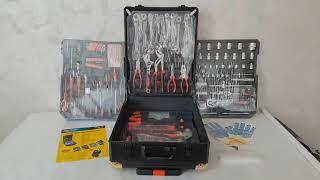 Набор инструментов Rainberg RB-0001 из 399 предметов, большой автомобильный набор инструментов от компании ТехМагнит - видео