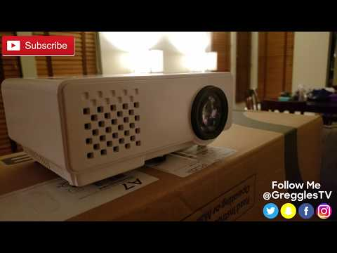 1080p DBPOWER RD-810 Video Projector REVIEW