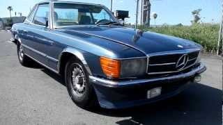 1984 Mercedes Benz 500SL R107 Roadster Grey Market Convertible EURO Lights & Bumpers