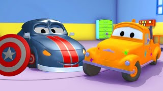 Car garage for kids -  Matt First AVENGER - Tom's Paint Shop in Car City