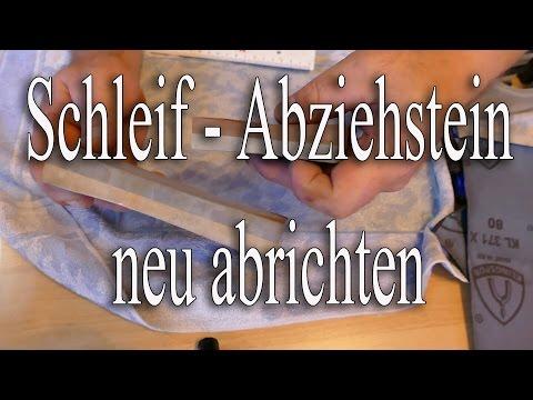 Schleif-- Abziehstein neu abrichten