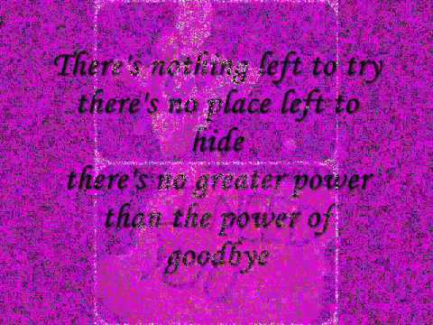 Madonna - The Power of Goodbye with lyrics