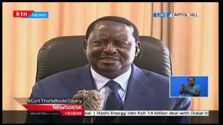 KTN News Desk: CORD leader Raila underscores the fact that the CORD is still intact ,10/10/16