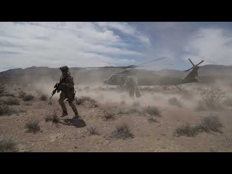 10th Special Forces Group (Airborne) Soldiers train at the Nevada Test and Training Range