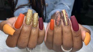 Fall Nails Tutorial   Matte Gel Top Coat   Madam Glam