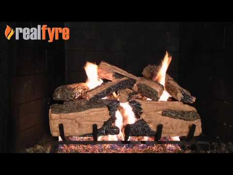 Peterson Burnt Split Oak Gas Logs Demonstration