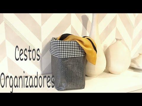 Cómo hacer una cesta de tela/DIY/Cestos para organizar