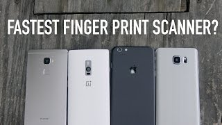 Fastest Finger Print Scanner? (iPhone 6s vs Note 5 vs One Plus 2 vs Mate S)