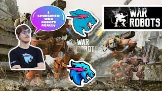 Mr Beast sponserd war robots in his video