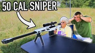 147 YEAR OLD GRANDMA SHOOTS MY 50 CAL SNIPER FOR MY BIRTHDAY!
