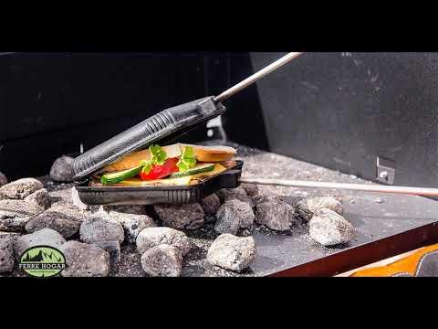Prepara un Sándwich o Gofre junto al fuego. #Bushcraft #OutdoorCooking