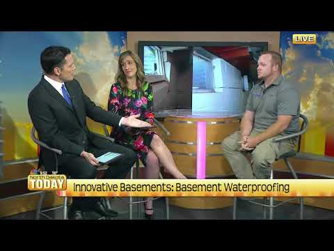 System design specialist, Andrew Kincaid, visits the set of North Dakota Today to discuss the importance of waterproofing your home.  Andrea Larson and Chris Berg always appreciate the exertise we provide to their viewers. 