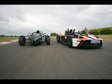 KTM X-Bow R vs Ariel Atom 300 on Track