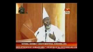 #MinisterialScreening: Adebayo Shittu says he can't comment on Boko Haram in public